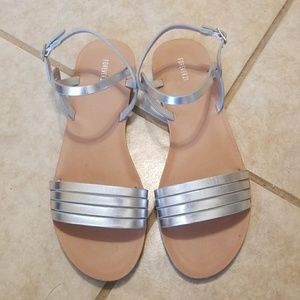 F21 silver sandals